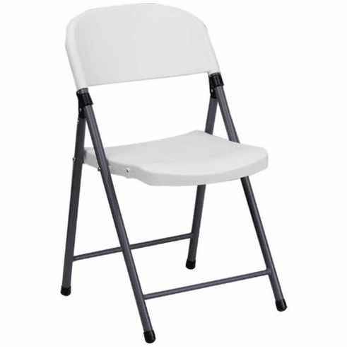Flash Furniture HERCULES Series 330 lb. Capacity Black Plastic Folding Chair with Charcoal Frame Model DAD-YCD-50-GG