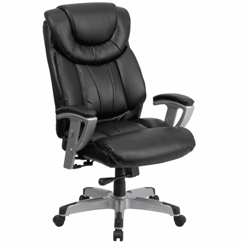 Flash Furniture HERCULES Series 400 lb. Capacity Big & Tall Black Leather Office Chair with Arms Model GO-1534-BK-LEA-GG