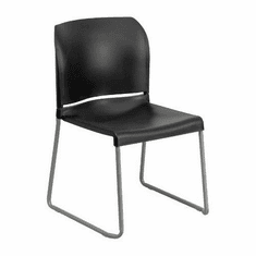 Flash Furniture HERCULES Series 880 lb. Capacity Black High Density, Ultra Compact Stack Chair with Black Frame Model RUT-238A-BK-GG