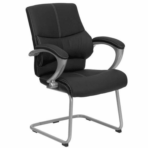 Flash Furniture HERCULES Series Big & Tall 400 lb. Capacity Black Fabric Executive Side Chair with Sled Base Model H-9637L-3-SIDE-GG