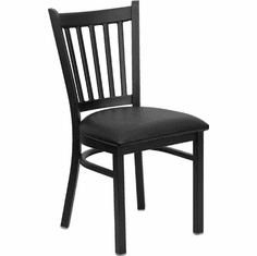 Flash Furniture HERCULES Series Black Vertical Back Metal Restaurant Chair - Burgundy Vinyl Seat Model XU-DG-6Q2B-VRT-BLKV-GG