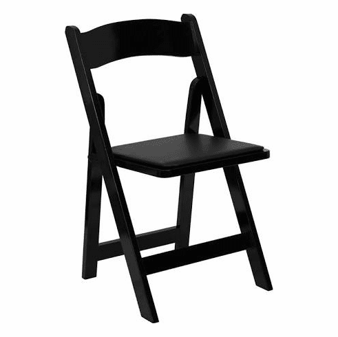 Flash Furniture HERCULES Series Black Wood Folding Chair with Vinyl Padded Seat Model XF-2902-BK-WOOD-GG