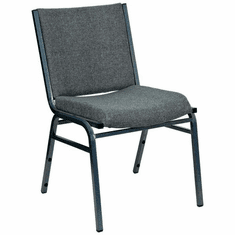 Flash Furniture HERCULES Series Heavy Duty, 3'' Thickly Padded, Gray Upholstered Stack Chair with Arms Model XU-60153-GY-GG