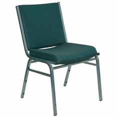 Flash Furniture HERCULES Series Heavy Duty, 3'' Thickly Padded, Green Patterned Upholstered Stack Chair with Arms Model XU-60153-GN-GG