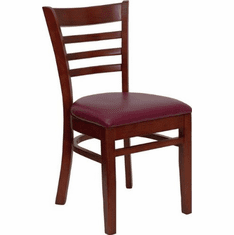 Flash Furniture HERCULES Series Mahogany Finished School House Back Wooden Restaurant Chair Model XU-DGW0005LAD-MAH-BURV-GG