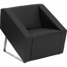 Flash Furniture HERCULES Smart Series Brown Leather Reception Chair Model ZB-SMART-BLACK-GG
