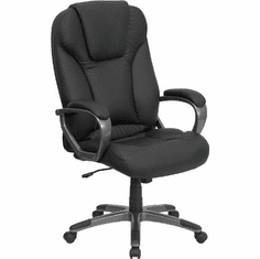 Flash Furniture High Back Black Leather Executive Office Chair, Model BT-9066-BK-GG