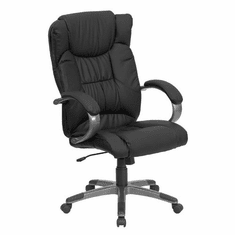 Flash Furniture High Back Black Leather Executive Office Chair, Model BT-9088-BK-GG