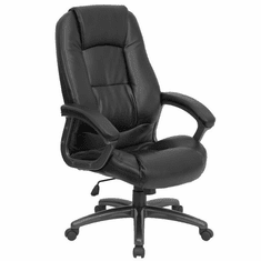 Flash Furniture High Back Black Leather Executive Office Chair, Model GO-7145-BK-GG