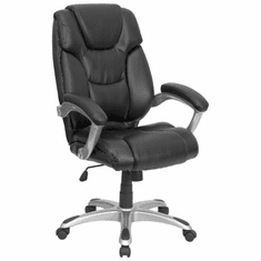 Flash Furniture High Back Black Leather Executive Office Chair, Model GO-931H-BK-GG