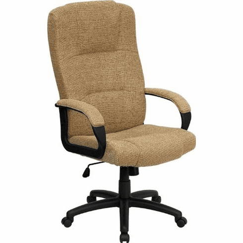 Flash Furniture High Back Brown Leather Executive Office Chair Model BT-9022-BGE-GG