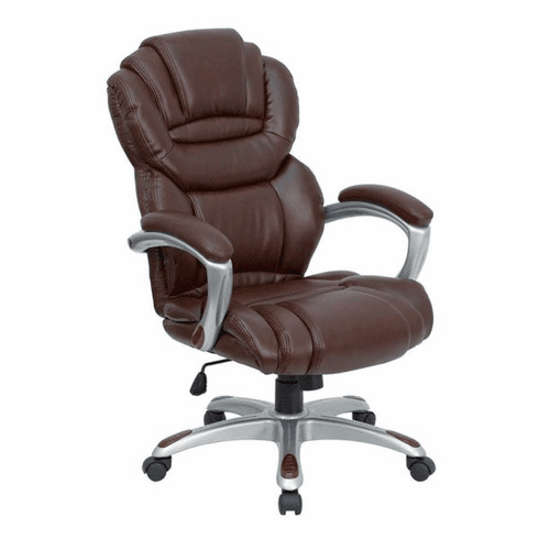 Flash Furniture High Back Brown Leather Executive Reclining Office Chair Model GO 901 BN GG