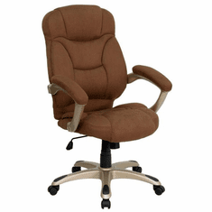 Flash Furniture High Back Burgundy Fabric Executive Office Chair, Model GO-725-BN-GG