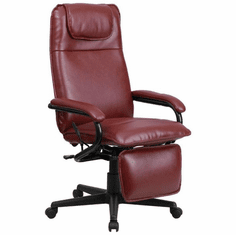 Flash Furniture High Back Designer White Leather Executive Office Chair with Chrome Base Model BT-70172-BG-GG