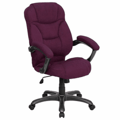 Flash Furniture High Back Gray Fabric Executive Office Chair Model GO-725-GRPE-GG