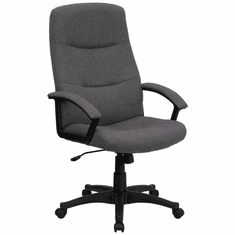 Flash Furniture High Back Gray Microfiber Upholstered Contemporary Office Chair Model BT-134A-GY-GG