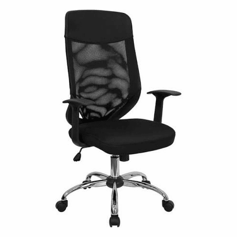 Flash Furniture High Back Mesh Office Chair with Mesh Fabric Seat Model LF-W952-GG