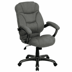 Flash Furniture High Back Navy Blue Fabric Executive Swivel Office Chair Model GO-725-GY-GG