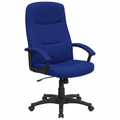 Flash Furniture High Back Navy Blue Microfiber Upholstered Contemporary Office Chair Model BT-134A-NVY-GG