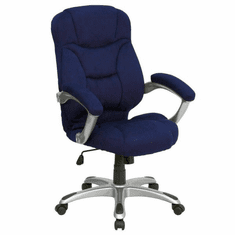 Flash Furniture High Back Navy Fabric Executive Office Chair Model GO-725-NVY-GG