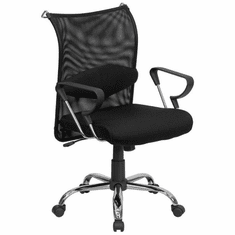Flash Furniture High Back Professional Super Mesh Chair Featuring Solid Metal Construction with Black Accents Model BT-2905-GG