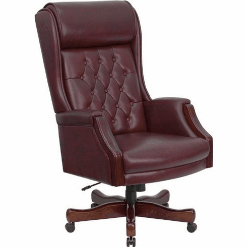 Flash Furniture High Back White Leather Executive Office Chair with Flip-Up Arms Model KC-C696TG-GG