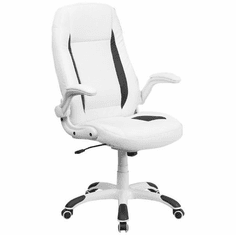 Flash Furniture High Back White Leather Executive Office Chair with Memory Foam Padding Model CH-CX0176H06-WH-GG
