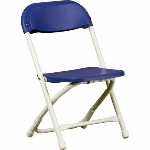 Flash Furniture Kids Blue Plastic Folding Chair Model Y-KID-BL-GG