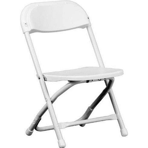 Flash Furniture Kids White Plastic Folding Chair Model Y-KID-WH-GG