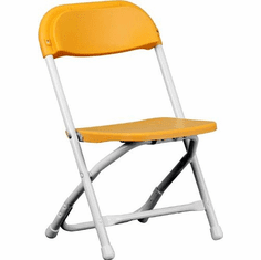 Flash Furniture Kids Yellow Plastic Folding Chair Model Y-KID-YL-GG
