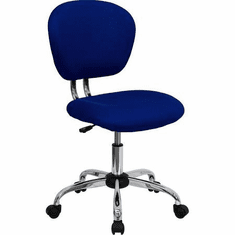 Flash Furniture Mid-Back Blue Mesh Task Chair with Chrome Base Model H-2376-F-BLUE-GG