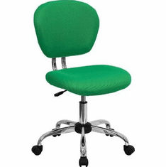 Flash Furniture Mid-Back Bright Green Mesh Task Chair with Chrome Base Model H-2376-F-BRGRN-GG
