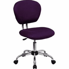 Flash Furniture Mid-Back Burgundy Mesh Task Chair with Chrome Base Model H-2376-F-BY-GG
