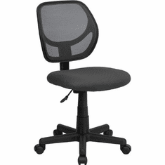Flash Furniture Mid-Back Gray Mesh Task Chair and Computer Chair Model WA-3074-GY-GG