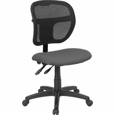 Flash Furniture Mid-Back Mesh Task Chair with Gray Fabric Seat, Model WL-A7671SYG-GY-A-GG