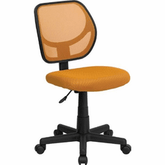 Flash Furniture Mid-Back Orange Mesh Task Chair and Computer Chair Model WA-3074-OR-GG