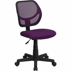 Flash Furniture Mid-Back Purple Mesh Task Chair and Computer Chair Model WA-3074-PUR-GG
