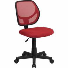 Flash Furniture Mid-Back Red Mesh Task Chair and Computer Chair Model WA-3074-RD-GG