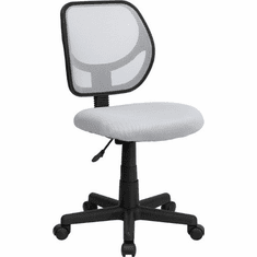 Flash Furniture Mid-Back White Mesh Task Chair and Computer Chair Model WA-3074-WHT-GG
