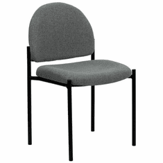 Flash Furniture Navy Fabric Comfortable Stackable Steel Side Chair Model BT-515-1-GY-GG