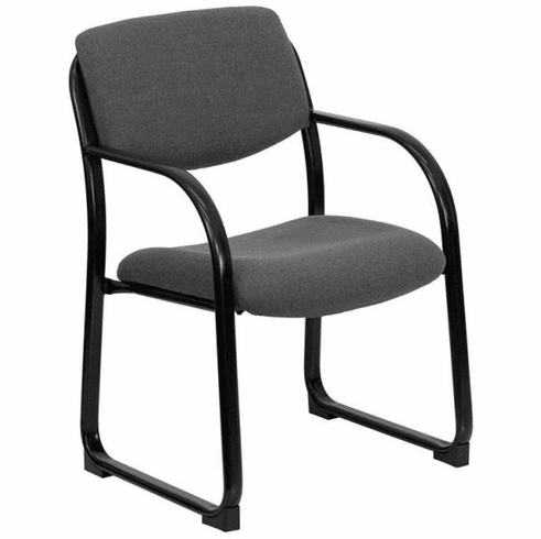 Flash Furniture Navy Fabric Executive Side Chair with Sled Base Model BT-508-GY-GG