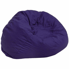 Flash Furniture Oversized Solid Brown Bean Bag Chair Model DG-BEAN-LARGE-SOLID-BL-GG