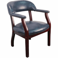 Flash Furniture Oxblood Vinyl Luxurious Conference Chair Model B-Z105-NAVY-GG