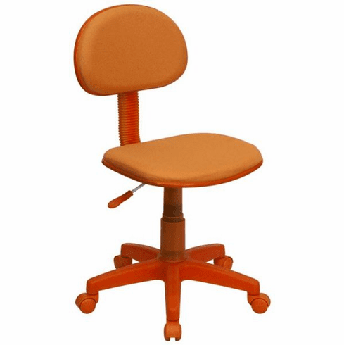 Flash Furniture Pacific University Oregon Boxers Embroidered Black Mesh Task Chair with Arms and Chrome Base Model BT-698-ORANGE-GG