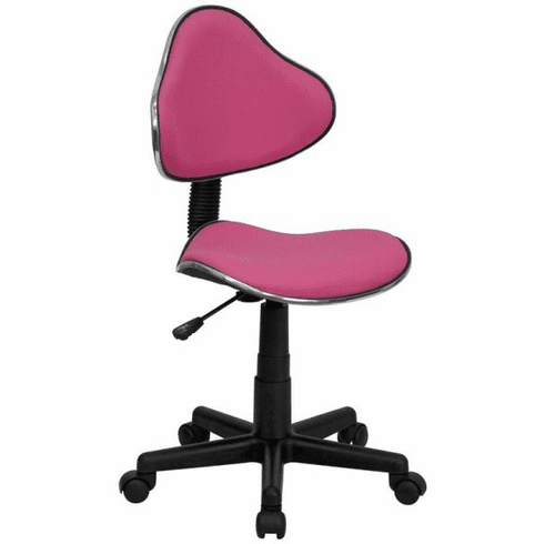 Flash Furniture Pittsburg State University Gorillas Embroidered Black Mesh Task Chair with Arms and Chrome Base Model BT-699-PINK-GG