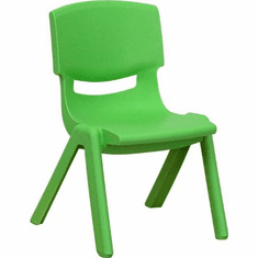 Flash Furniture Red Plastic Stackable School Chair with 12'' Seat Height Model YU-YCX-001-GREEN-GG