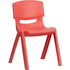Flash Furniture Red Plastic Stackable School Chair with 15.5'' Seat Height Model YU-YCX-004-RED-GG