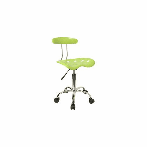 Flash Furniture Vibrant Apple Green and Chrome Swivel Task Chair with Tractor Seat Model LF-214-APPLEGREEN-GG