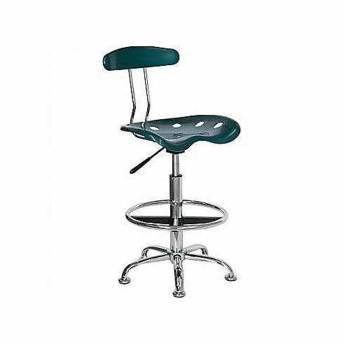 Flash Furniture Vibrant Green and Chrome Computer Task Chair with Tractor Seat Model LF-214-GREEN-GG