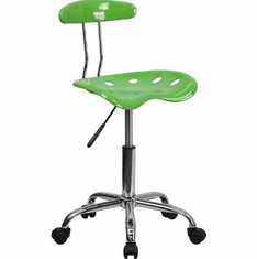 Flash Furniture Vibrant Spicy Lime and Chrome Computer Task Chair with Tractor Seat Model LF-214-SPICYLIME-GG